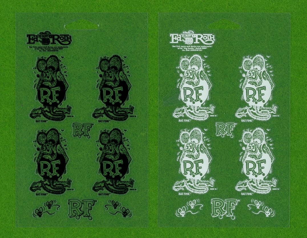 Rat Fink ラットフィンク 63円発送可 抜き デカール mooneyes ムーンアイズ ステッカー 黒色 抜き文字タイプ 転写式 ブラック ミニレター_白色も別で出品中です
