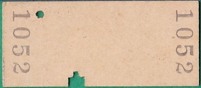 鉄道硬券切符200■興津から袖師ゆき 10円 36-7.18_画像2