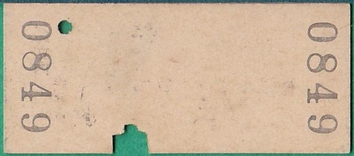 鉄道硬券切符232■比立内から岩野目ゆき 10円 39-1.19_画像2