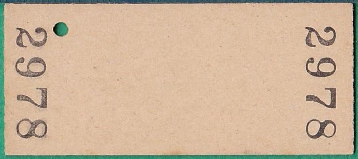 鉄道硬券切符92■臼ノ浦から小浦ゆき 10円 35-8.26_画像2