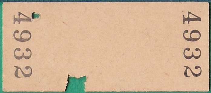鉄道硬券切符172■二瀬から幸袋ゆき 10円 35-8.27_画像2