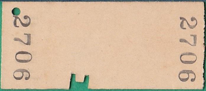 鉄道硬券切符183■深川から北一己ゆき 20円 39-9.11_画像2