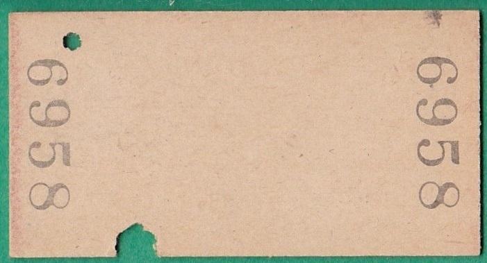 鉄道硬券切符286■伊那町から下島ゆき 10円 28-10.25_画像2