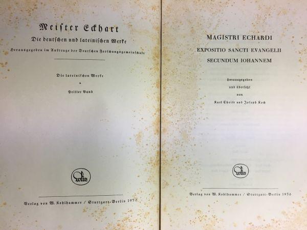 洋書古書 Meister Eckhart Werke マイスター・エックハルト全集一括_画像5
