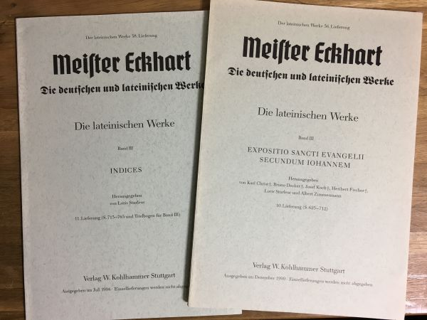 洋書古書 Meister Eckhart Werke マイスター・エックハルト全集一括_画像6