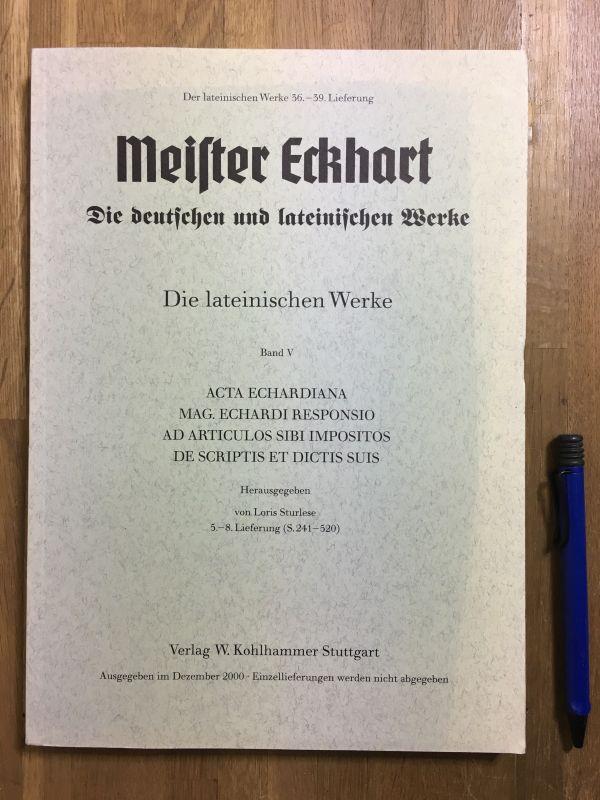 洋書古書 Meister Eckhart Werke マイスター・エックハルト全集一括_画像3