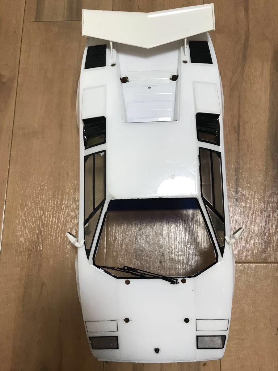 【タミヤ】ランボルギーニカウンタック LP500S ボディのみLEDライトユニット付 【ジャンク】_画像4