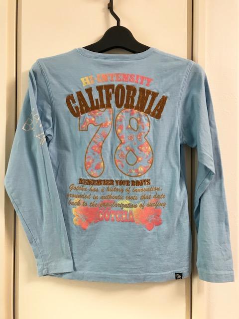 ガッチャ ガッチャキッズ GOTCHA KIDS ロゴ刺繍ロゴプリント ロンT ロングTシャツ 長袖 150cm 水色 ブルー_画像4