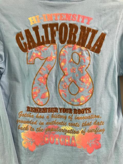 ガッチャ ガッチャキッズ GOTCHA KIDS ロゴ刺繍ロゴプリント ロンT ロングTシャツ 長袖 150cm 水色 ブルー_画像5