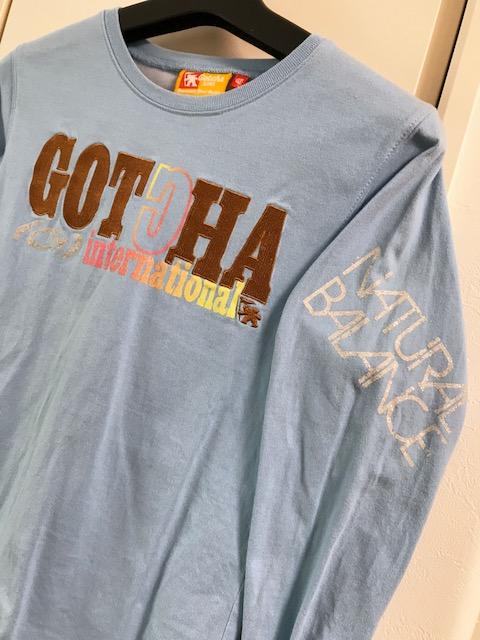 ガッチャ ガッチャキッズ GOTCHA KIDS ロゴ刺繍ロゴプリント ロンT ロングTシャツ 長袖 150cm 水色 ブルー_画像2