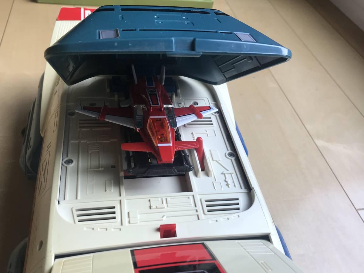 バンダイ 光戦隊マスクマン DX超合金 高速合体グレートファイブ ビッグスケール ターボランジャー セット ポピー、ソフビ、_画像6