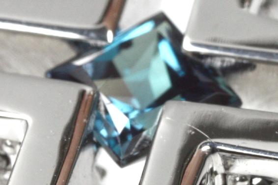 PR291535 ジェムケリー 0.3ct アレキサンドライト ダイヤ ネックレス 中央宝石研究所 鑑別書 ブラックスピネル_画像2