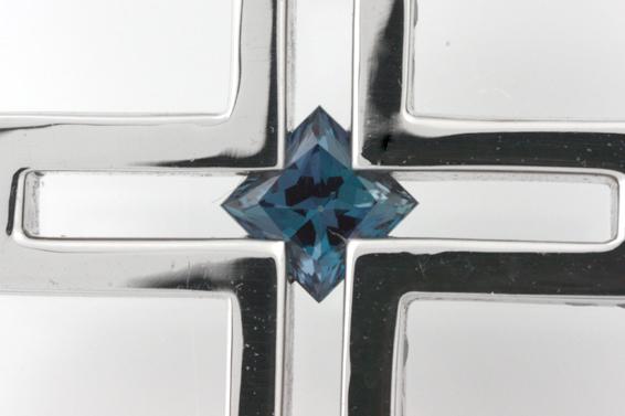 PR291535 ジェムケリー 0.3ct アレキサンドライト ダイヤ ネックレス 中央宝石研究所 鑑別書 ブラックスピネル_画像10