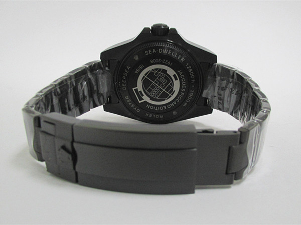 新品同様メンズRolexブラック機械式時計自動巻き_画像3
