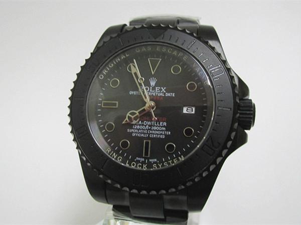 新品同様メンズRolexブラック機械式時計自動巻き