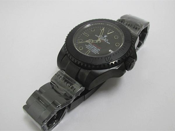 新品同様メンズRolexブラック機械式時計自動巻き_画像2