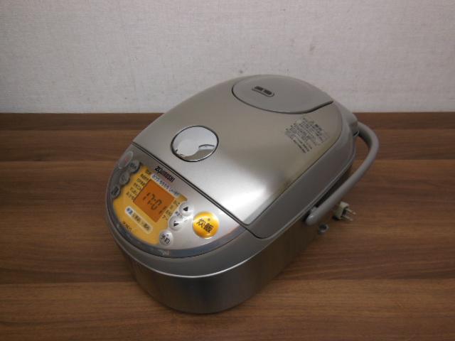 【1円スタ】象印 NP-NE10 真空圧力IH炊飯器(5.5合炊)極め炊き 2011年_画像2