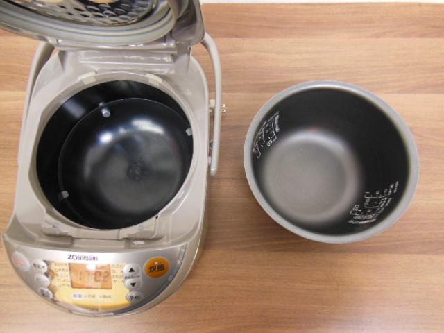 【1円スタ】象印 NP-NE10 真空圧力IH炊飯器(5.5合炊)極め炊き 2011年_画像5