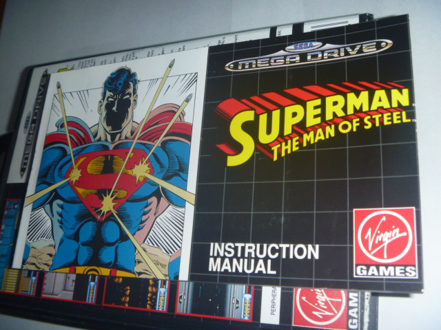 海外 欧州MEGA DRIVE Superman The Man of Steel - Virgin Games スーパーマン_画像4