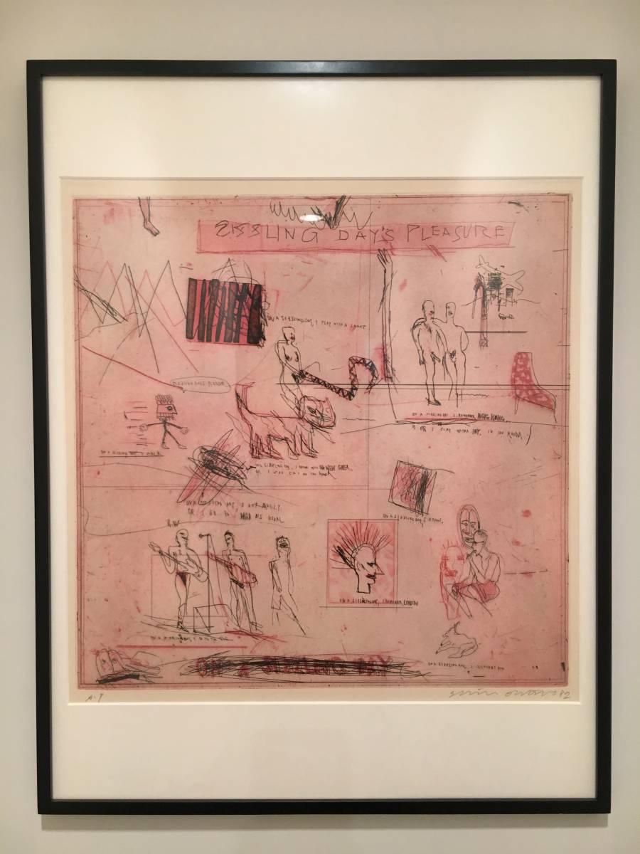 大竹伸朗 エッチング 銅版画 初期 80年代 大判 直筆サイン 代表作 現代美術 貴重 真作保証 直島 ニューシャネル 展覧会出品作 高額