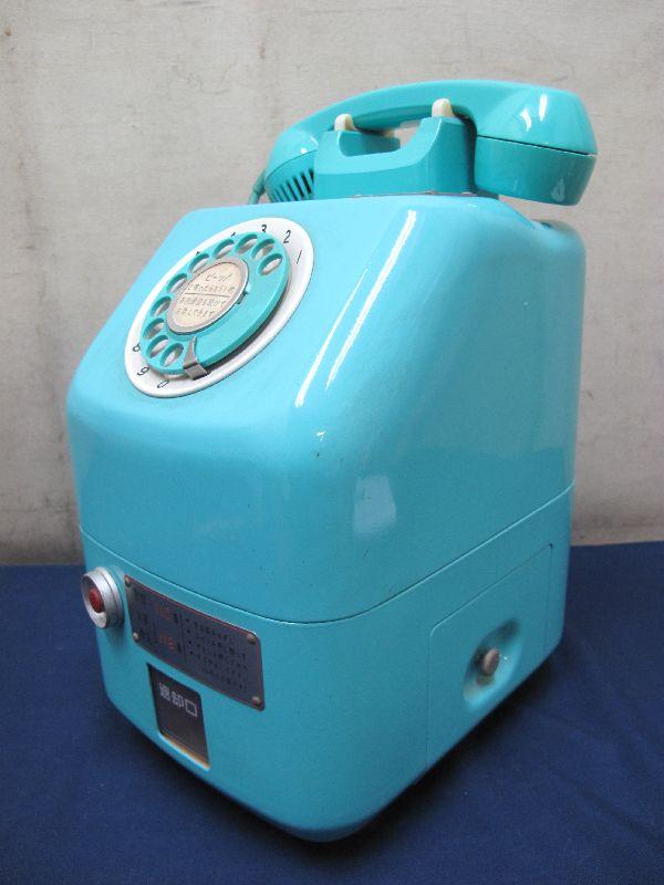 昭和レトロ 青色 ダイヤル式公衆電話(22)676-A2N 日本電信電話公社_画像2