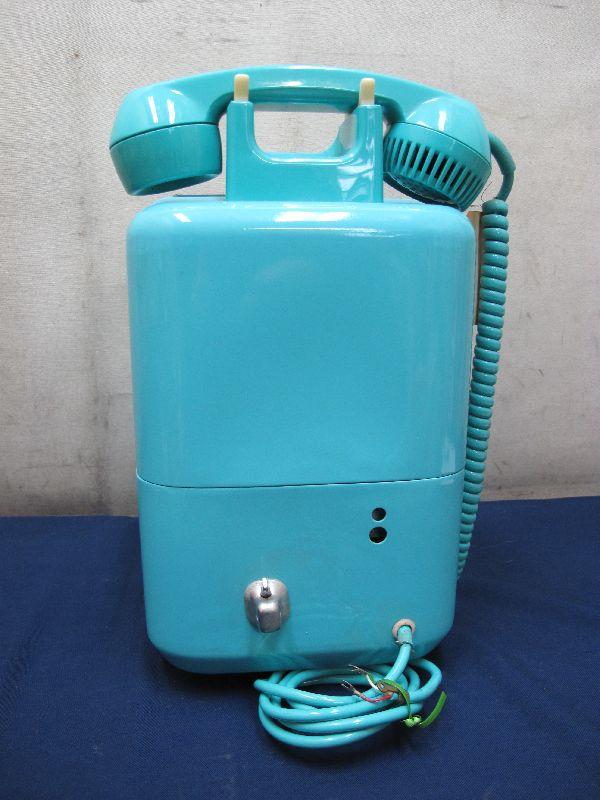 昭和レトロ 青色 ダイヤル式公衆電話(22)676-A2N 日本電信電話公社_画像6