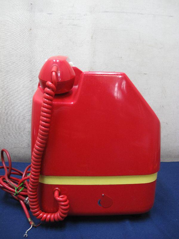 昭和レトロ 赤色 ダイヤル式公衆電話(26)678-A2 1982年5月 田村電機製作所_画像5