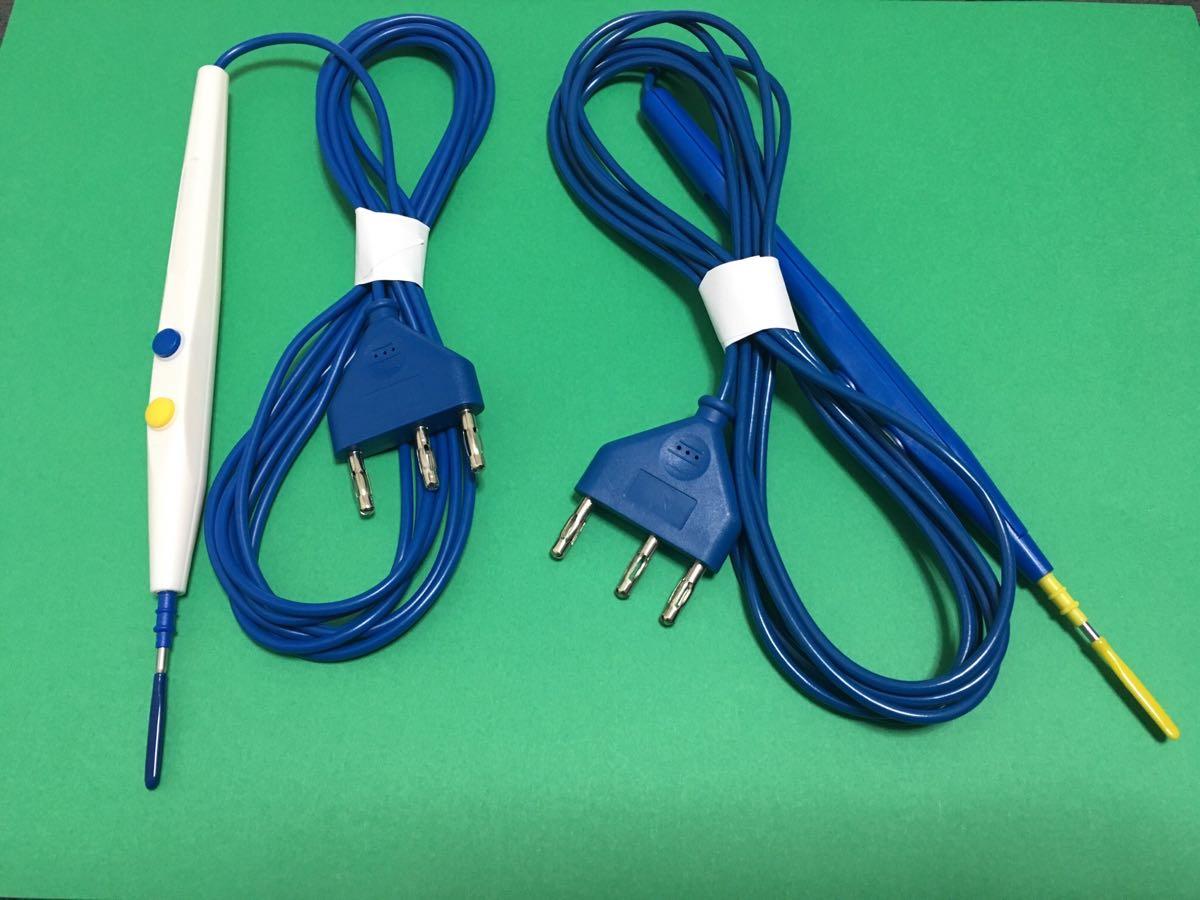 医療機器電気外科用ペンシル(ESU).(使い捨て/殺菌された) ケーブル長さ3mm新品です.////(一回のみ使用)色青いです。_画像8