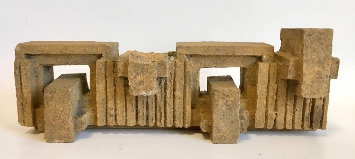 フランク・ロイド・ライト 旧帝国ホテル レンガ (千鳥模様スクラッチタイル 穴有り) Frank Lloyd Wright