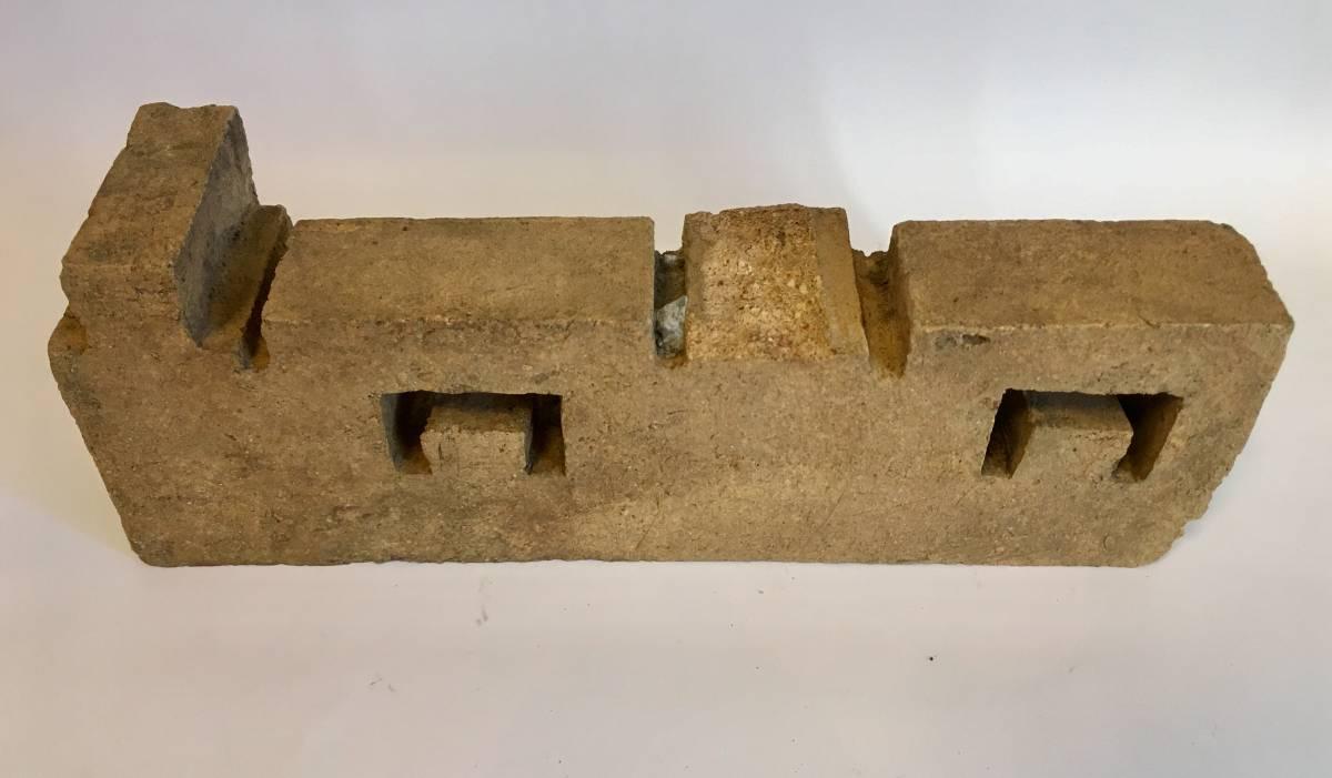 フランク・ロイド・ライト 旧帝国ホテル レンガ (千鳥模様スクラッチタイル 穴有り) Frank Lloyd Wright_画像6