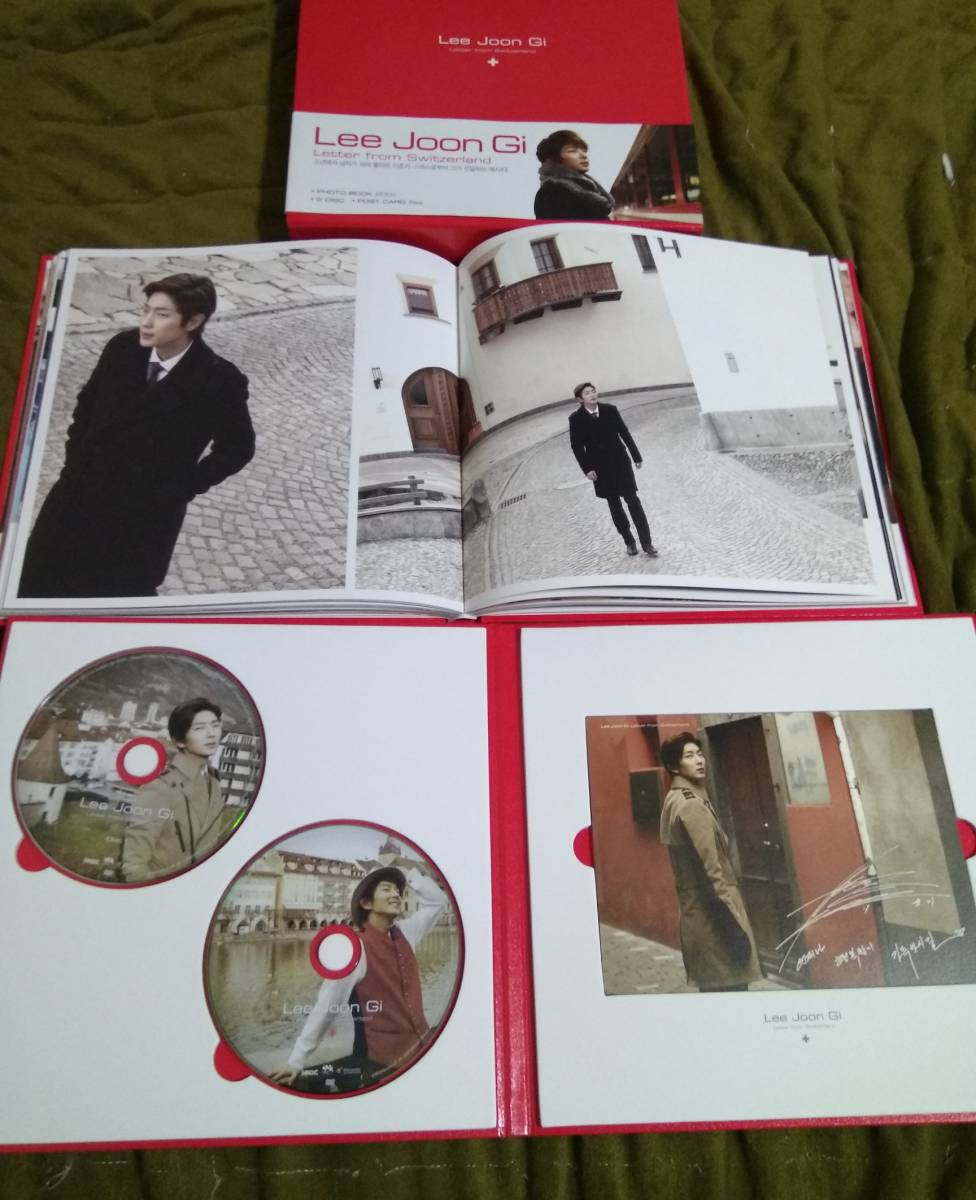 イ・ジュンギ 韓国 Letter form Switzerland スイス写真集 + DVD2枚 + ポストカード5枚