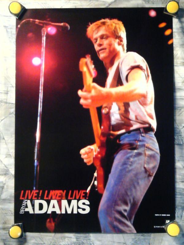 ae【ポスター/B-2-515x728】ブライアン アダムス/Bryan Adams/LIVE!LIVE!LIVE!/販促用非売品ポスター