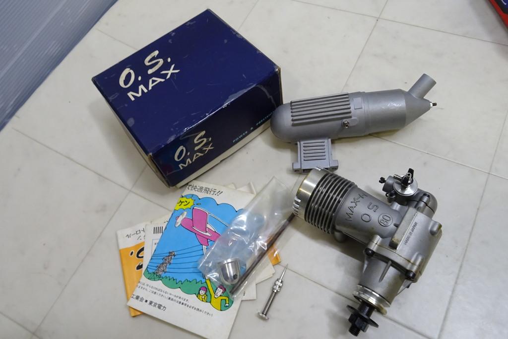 ジャンク扱い・長期保管品■(8)エンジン・パーツ 画像のものまとめて O.S. MAX H80/RC *ABC SC 91A_画像3