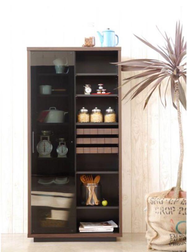 食器棚 キッチンボード 本棚 飾り棚 フリーボード キッチンキャビネット シェルフ リビング コルク デザイナーズ家具_画像6