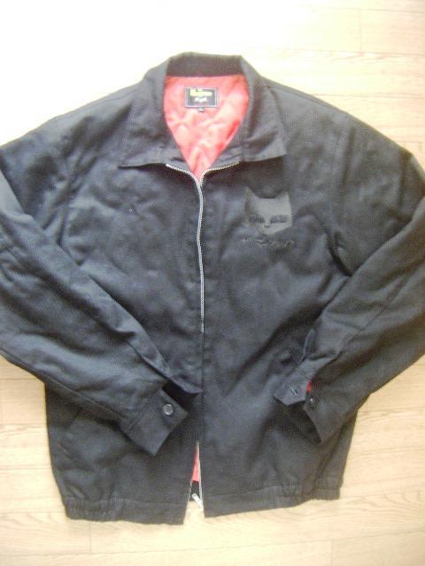 ザ・マックショウ・黒猫ジャケット サイズL 黒いモーターバイク・ジャンパー カウンターアクション GT380 CB750