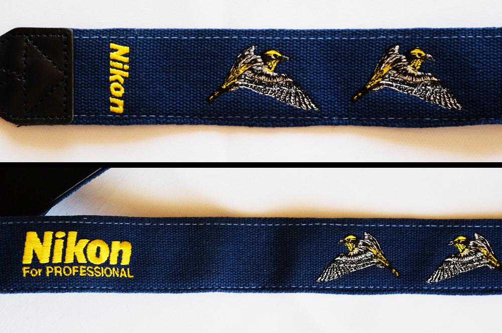 Nikon カタログから消えてしまったバードストラップ青 FOR PROFESSIONAL ニコン_画像3