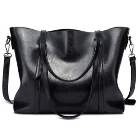 KELEVSの人気レザークラシックトートバッグ 628a4黒ブラックおしゃれ大人女マザーズバッグレディースオシャレブランド大容量トレンド