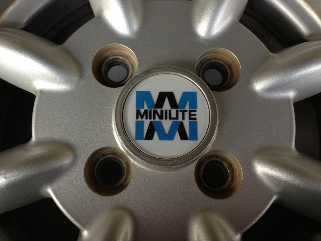 ■wheel■115■ MINILITE 13インチ 4J 100 4穴 +45 4本_画像2
