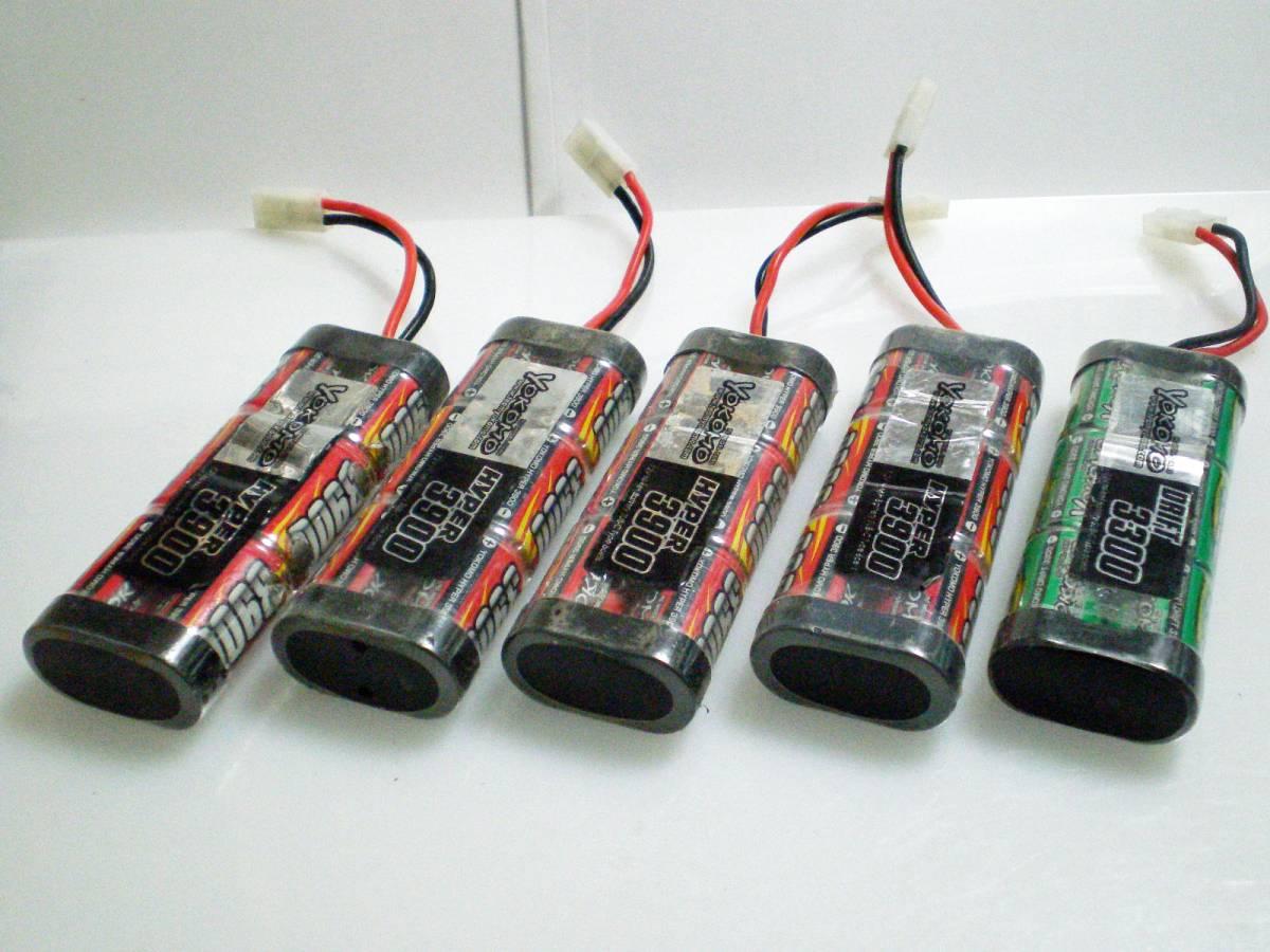 ヨコモ ハイパー3900・3300 7.2Vニッケル水素バッテリー 5本セット ジャンク扱い