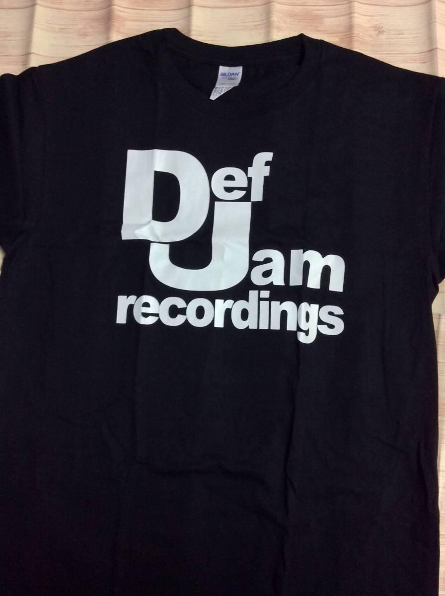 新品★80S Def Jam recordings ロゴTシャツ 黒Lサイズ◆デフジャム RUN DMC ビースティーボーイズ PUBLIC ENEMY N.W.A 2PAC カニエ HIPHO