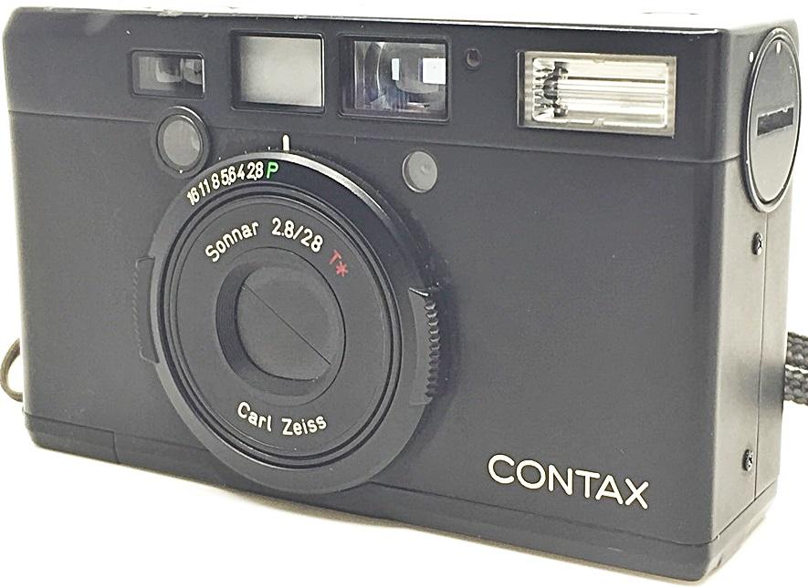 S0348 KYOCERA 京セラ コンパクトカメラ CONTAX コンタックス Tix ブラック_画像2