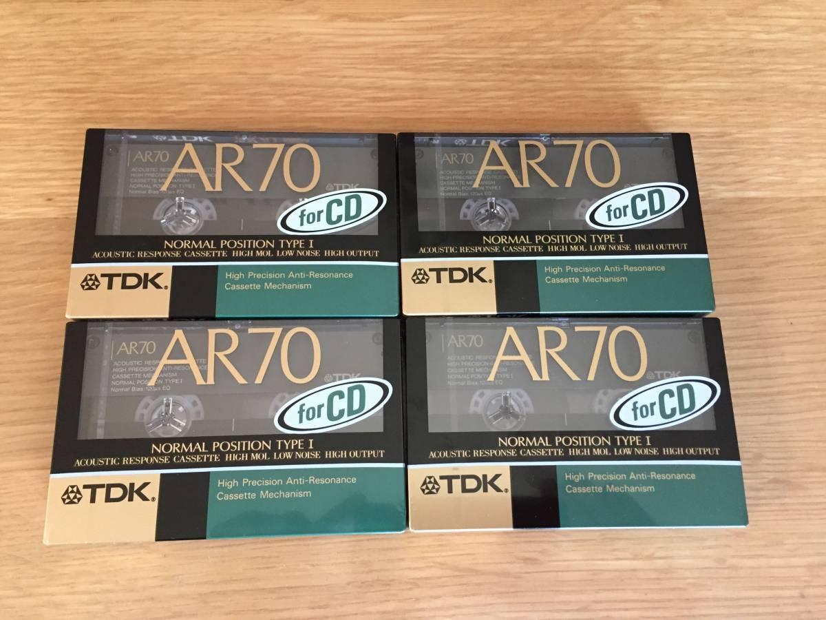 TDK カセットテープ AR70 4個セット 新品未使用未開封