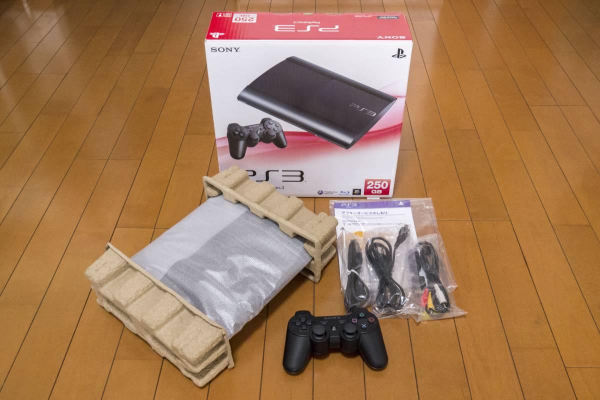 【美品】 SONY PS3本体 CECH-4000B 250GB ★箱有・付属品有・完動品★