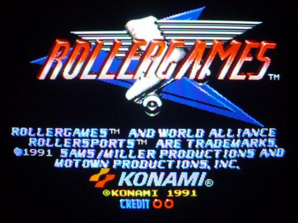 ♪KONAMI コナミ♪「ローラーゲームズ」動作確認 ROLLER GAMES