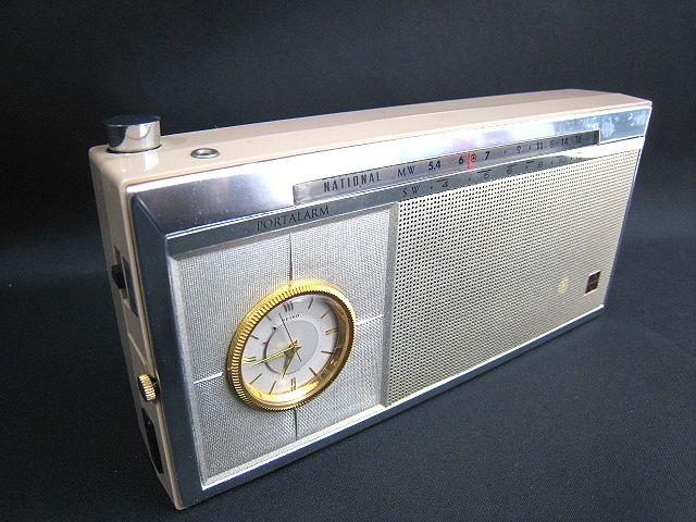 ●レトロ アンティーク● ナショナル SEIKO セイコー トランジスターラジオ T-94 時計 手巻き 昭和 ディスプレイ 002111-i02y