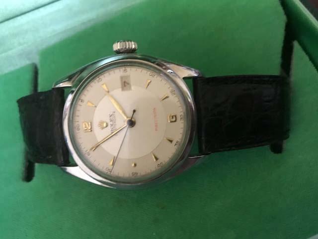 ☆ロレックス/Ref6094/オイスターデイト/赤デイト/アンティーク腕時計/手巻き_画像8