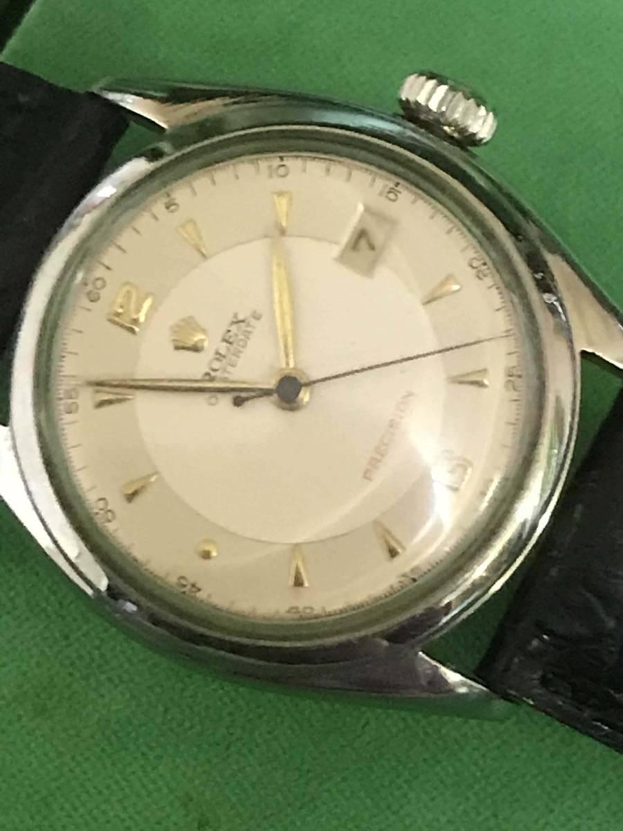☆ロレックス/Ref6094/オイスターデイト/赤デイト/アンティーク腕時計/手巻き_画像3