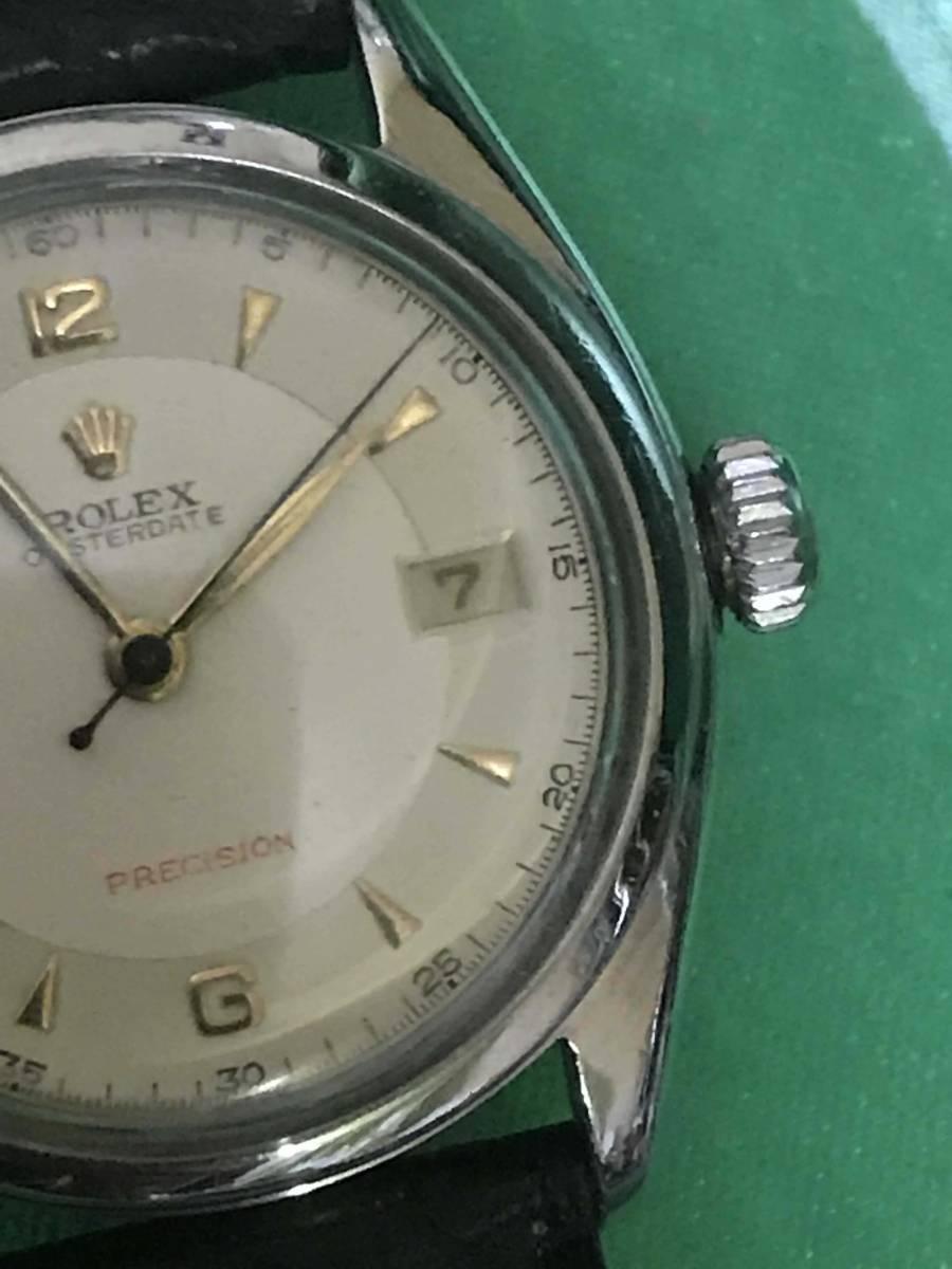☆ロレックス/Ref6094/オイスターデイト/赤デイト/アンティーク腕時計/手巻き_画像4