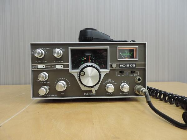 t770◆ICOM アイコム 50MHz トランシーバー 無線機 IC-501 + IC-3PU + IMP-500Ω_画像2