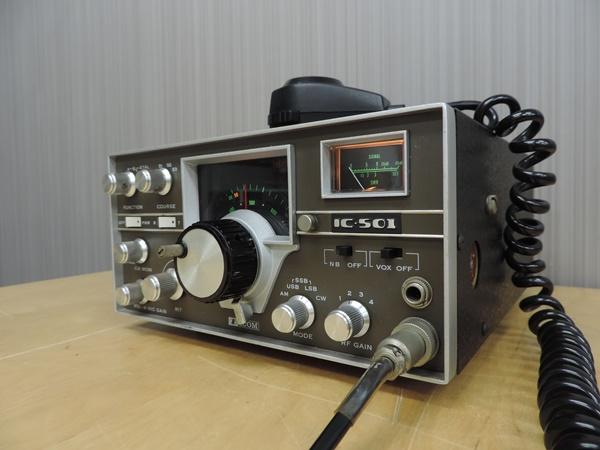 t770◆ICOM アイコム 50MHz トランシーバー 無線機 IC-501 + IC-3PU + IMP-500Ω_画像3